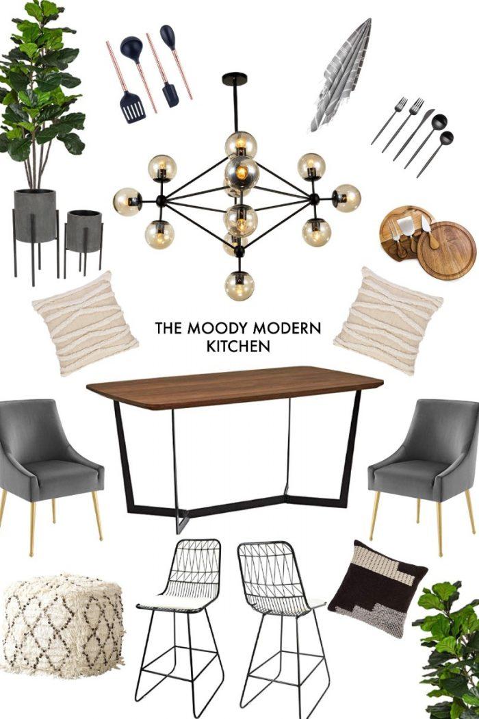 The Moody Modern Kitchen