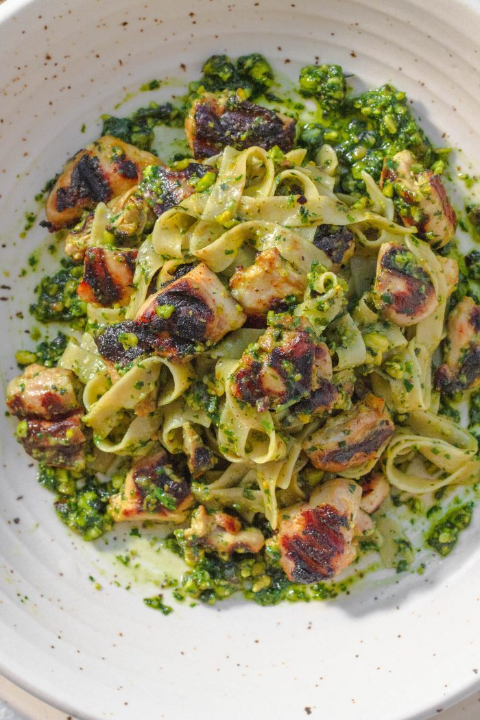 Arugula Pesto with Gluten-Free Tagliatelle