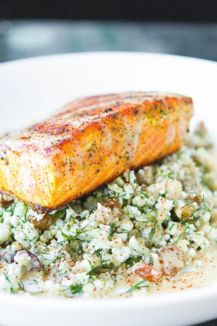 Enjoy Cauliflower Tabbouleh and An Easy Smokey Salmon