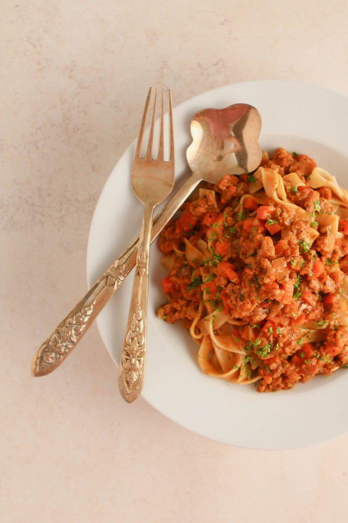 Vegan Bolognese Sauce That's Tomato-free