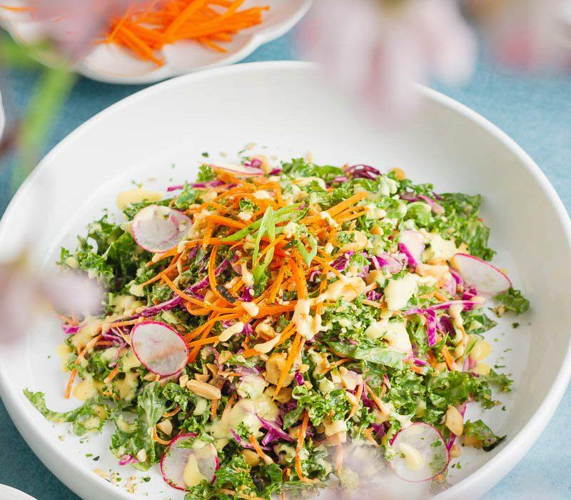 Sesame Mango Kale Salad